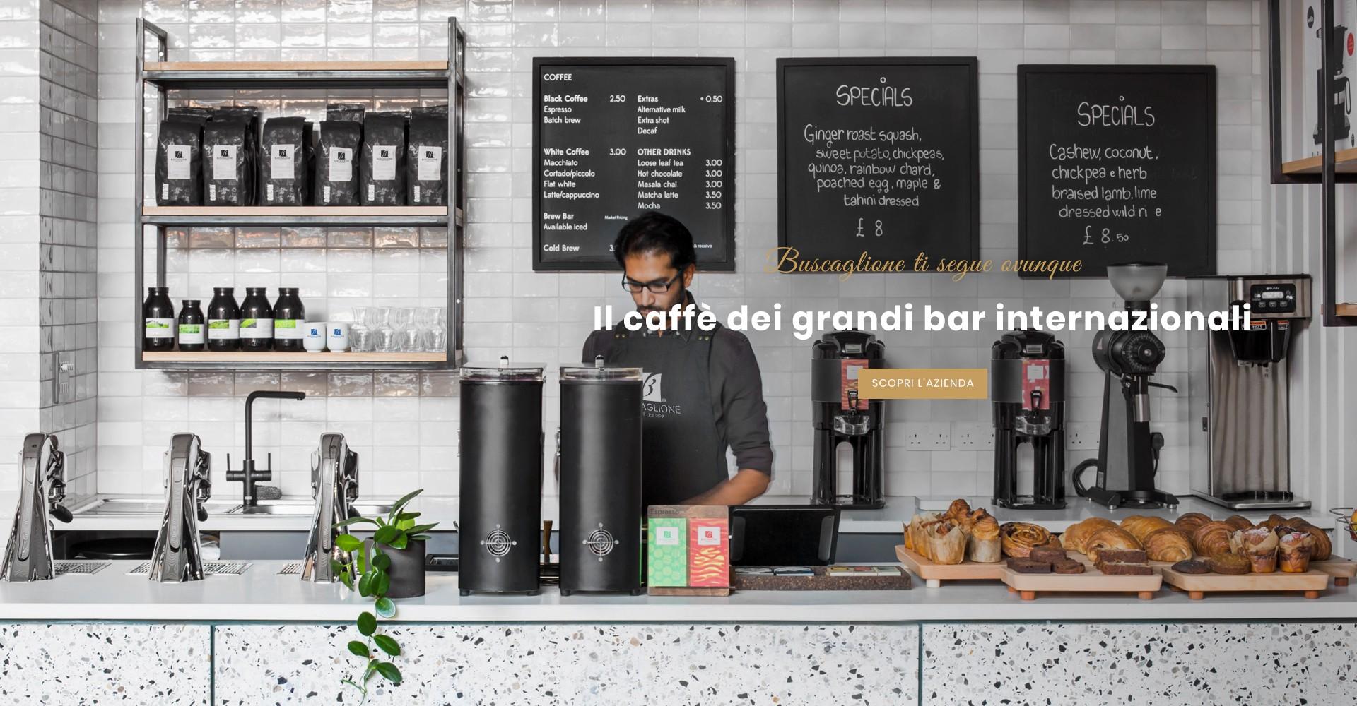 Il caffè dei grandi bar internazionali